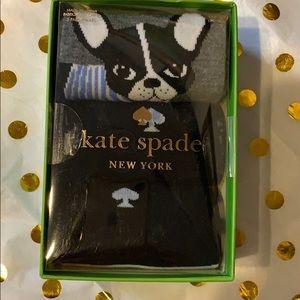 Kate Spade NY French Bull Dog Socks